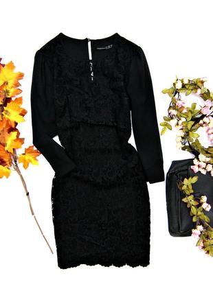 Кружевное черное платье1 фото