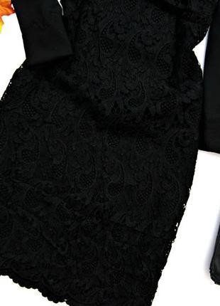 Кружевное черное платье3 фото