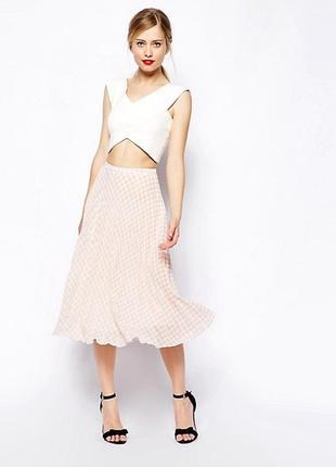 Asos актуальная юбка плиссе в принт