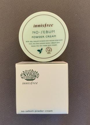 Матирующий крем innisfree no sebum powder cream