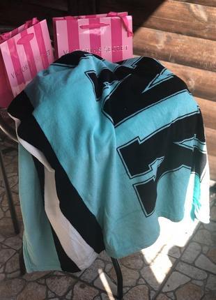Скидка! плед pink victoria's secret плюшевый флисовый тёплый одеяло покрывало голубой