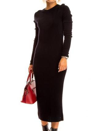 Шерстяное платье черного цвета alise (италия) размер s-м