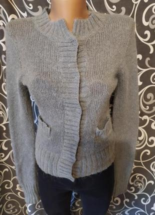 Свитер джемпер кардиган пуловер30%шерсть альпаки