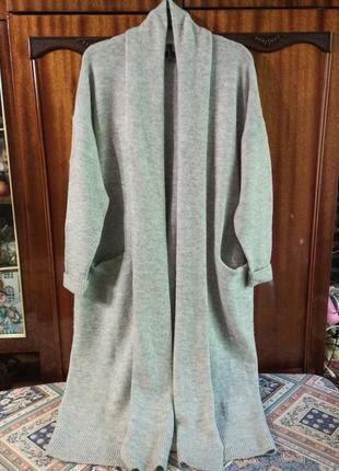 Кардиган кофта вязанное пальто  reserved 100%шерсть