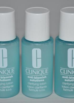 Отшелушивающий лосьон для проблемной кожи clinique anti-blemish solutions
