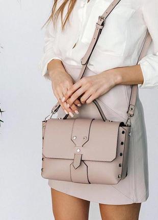 Женская итальянская кожаная сумка vera pelle