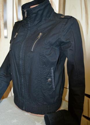 Демисезонная куртка ветровка котоновая ворот стойка s/xs