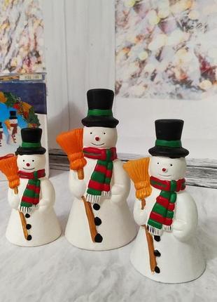 Набор снеговичков-колокольчиков