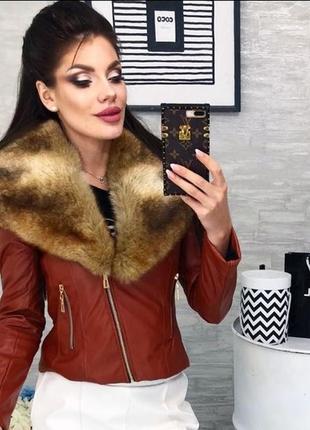 Стильная куртка экокожа м-л