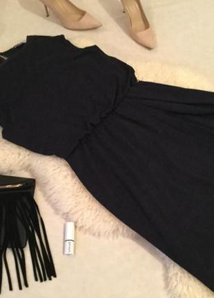 Стильное шерстяное платье с кожаной планкой вокруг шеи на р.с/м от tommy hilfiger❤️💋🌹