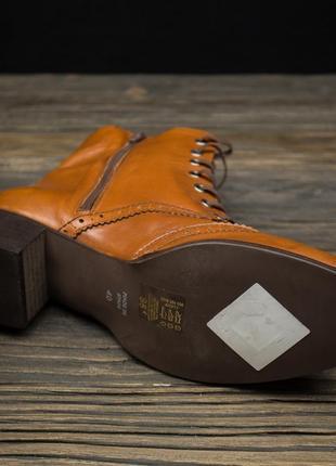 Шикарные кожаные ботинки броги fosco испания р-406 фото