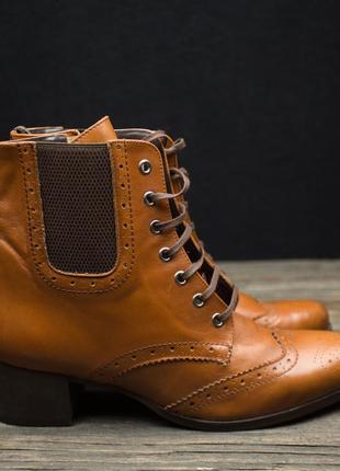 Шикарные кожаные ботинки броги fosco испания р-402 фото