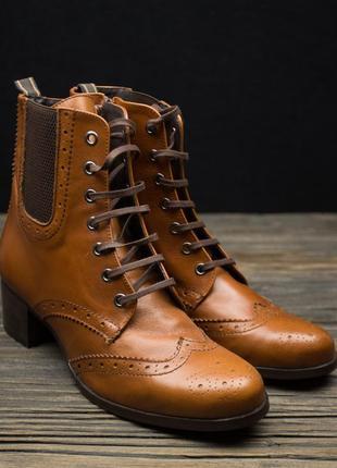 Шикарные кожаные ботинки броги fosco испания р-401 фото