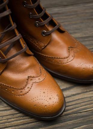 Шикарные кожаные ботинки броги fosco испания р-404 фото