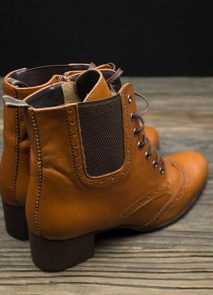 Шикарные кожаные ботинки броги fosco испания р-403 фото