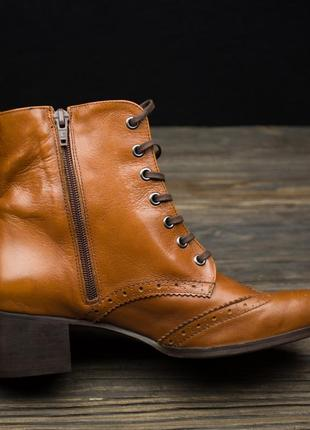 Шикарные кожаные ботинки броги fosco испания р-405 фото