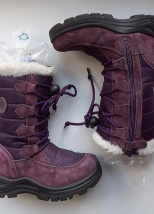 Зимние сапоги сапожки овчина naturino rain step ботинки
