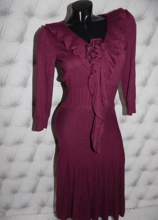 Элегантное  платье, 15 % шерсть