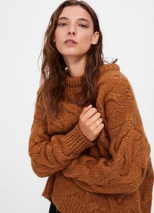 Теплый свитер zara осень-зима 18-19