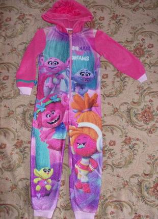 Пижама кигуруми слип человечек на 5-6 лет рост 110-116 см