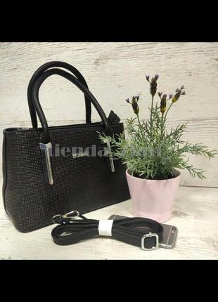 Женская сумка небольшого размера f-758 черная