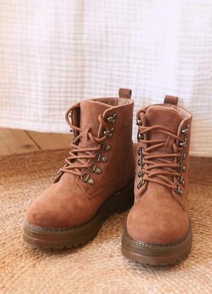 Ботинки рыжие зимние