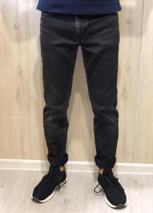Зауженные чёрные джинсы от next