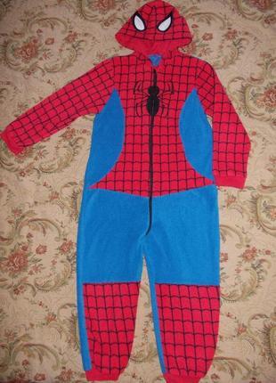 Пижама кигуруми слип человечек человек паук на 6-7 лет рост 116-122 см