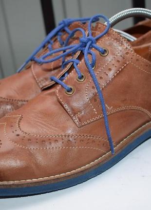 Кожаные оксфорды туфли мокасины полуботинки
