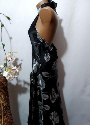 Нарядное платье с открытой спинкой в принт4 фото