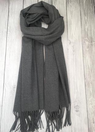 Серый шарф-палантин