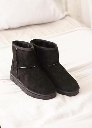 Угги ботинки чёрные