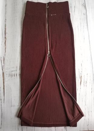 Юбка, спідничка марсала бордо, модель н&м