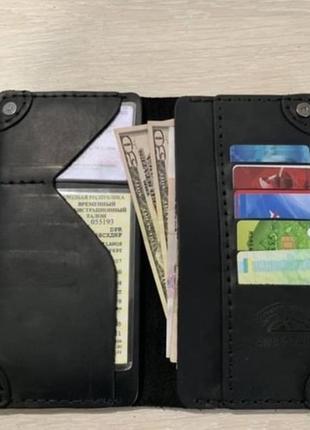 Кожаное мужское портмоне,мужской кошелек кожа,чоловічий гаманець клатч6 фото