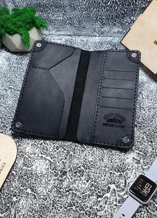 Кожаное мужское портмоне,мужской кошелек кожа,чоловічий гаманець клатч2 фото