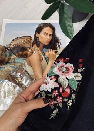 Юбка з вишивкою від denim co🖤🖤🖤2 фото
