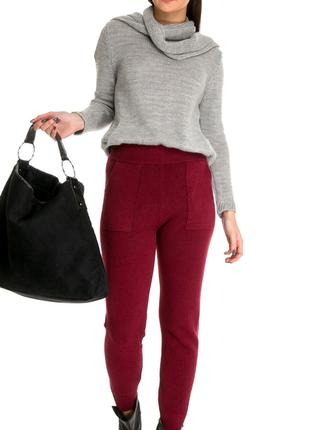 Женские трикотажные брюки pronto moda (италия) размер s-m