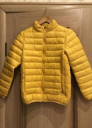 Горчичная осенняя куртка, пуховик