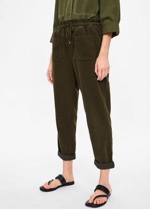 Новые вельветовые штаны брюки zara