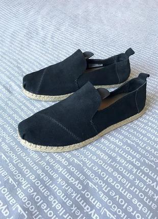 Туфли эспадрильи мокасины лоферы кожаные замшевые купить цена