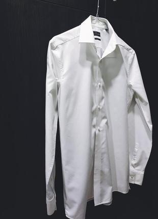 Фирменная белая рубашка от next.