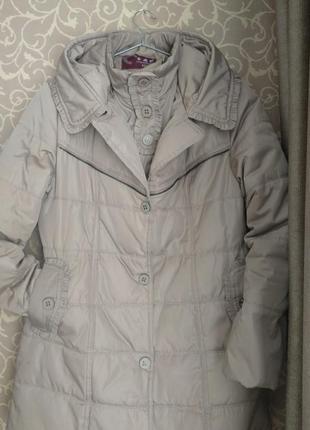Плащ пуховий плащик пуховик зимовий курточка куртка жіноча зимова