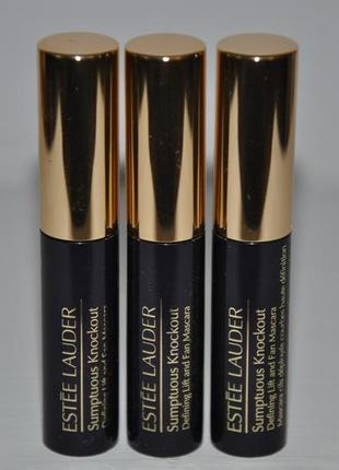 Тушь для ресниц estee lauder sumptuous knockout defining lift and fan mascara объем мини