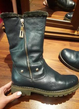 Итальянские сапоги ботинки из натуральной кожи
