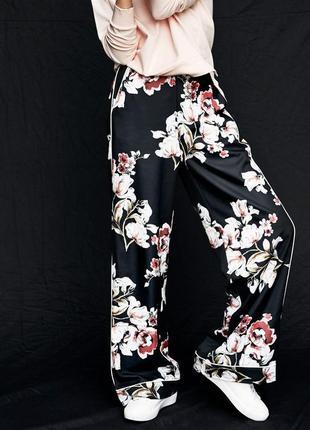 Co'couture брюки штаны в пижамном стиле. новые, с биркой