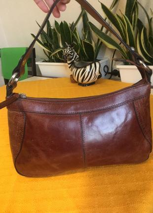 Шкіряна брендова сумочка