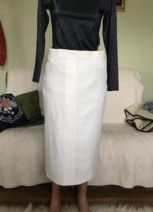 Класическая шерстяная юбка на повышенную талию