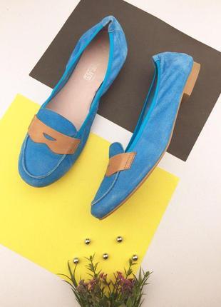Замшевые туфли на низком ходу испания
