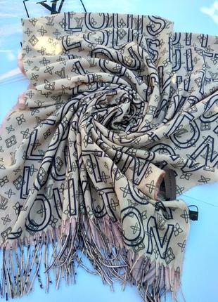 Брендовый шарф кашемировый
