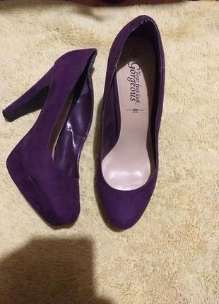 Фиолетовые туфли 27 см по стельке